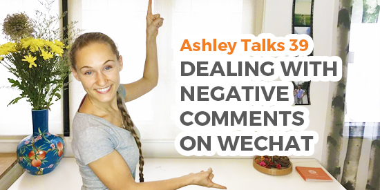 Dealing with Negative Comments on WeChat